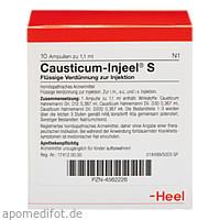 CAUSTICUM INJEEL S, 10 ST, Biologische Heilmittel Heel GmbH