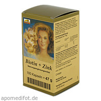 Biotin + Zink Haarkapseln, 100 ST, Fbk-Pharma GmbH