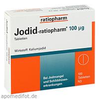 Jodid-ratiopharm 100 ug, 100 ST, ratiopharm GmbH