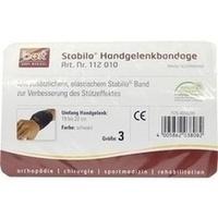 BORT Stabilo Handgelenkbandage schwarz Gr.3, 1 ST, Bort GmbH