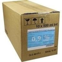 Isotonische NaCl 0.9% DELTAMEDICA Glasinf., 10X500 ML, DELTAMEDICA GmbH