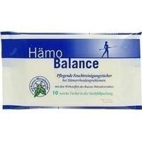 Hämo Balance Pflegende Reinigungstücher, 10 ST, Nölken Hygiene Products GmbH