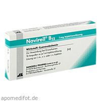 Novirell B12 1mg Injektionslösung, 10X1 ML, Sanorell Pharma GmbH & Co. KG