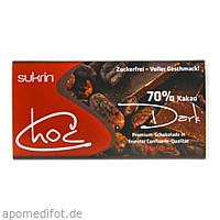SUKRIN Choc dark zuckerfrei laktosefrei Vegan, 60 G, Habitum Pharma