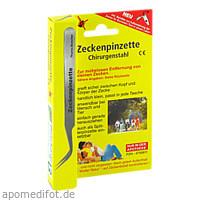 Zeckenpinzette-Chirurgenstahl, 1 Stück, Pharma Brutscher