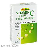 Vitamin C + Zink Depot Kapseln, 60 ST, Amosvital GmbH
