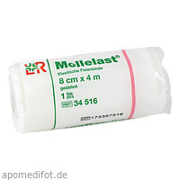 MOLLELAST 8CMx4m WEISS 14412, 1 ST, Lohmann & Rauscher GmbH & Co. KG