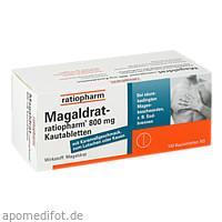Magaldrat-ratiopharm 800mg Tabletten, 100 ST, ratiopharm GmbH