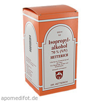 ISOPROPYLALKOHOL 70% (V/V) HETTERICH, 500 ML, Teofarma S.R.L.