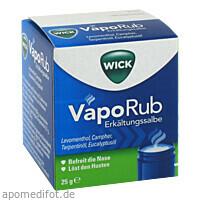 WICK VAPORUB Erkältungssalbe 915995, 25 G, Procter & Gamble GmbH