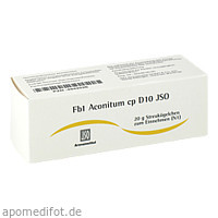 Fb1 Aconitum cp D10 JSO, 20 G, Iso-Arzneimittel GmbH & Co. KG