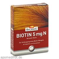 GEHE BALANCE Biotin 5mg N, 60 ST, Gehe Pharma Handel GmbH