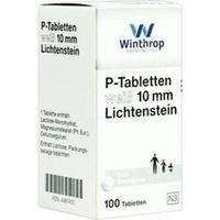 P TABLETTEN WEISS 10MM LICHTENSTEIN, 100 ST, Zentiva Pharma GmbH