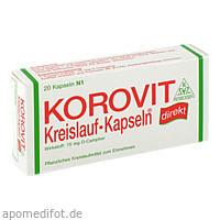 Korovit Kreislauf-Kapseln, 20 ST, Robugen GmbH Pharmazeutische Fabrik