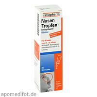 NasenTropfen-ratiopharm Kinder Konservier.frei, 10 ML, ratiopharm GmbH
