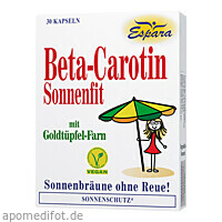 BETA-Carotin SONNENFIT, 30 ST, Espara GmbH