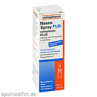 NasenSpray PUR-ratiopharm PLUS, 20 ML, ratiopharm GmbH
