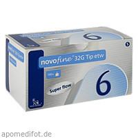 NovoFine 6mm 32G Tip etw, 100 ST, Novo Nordisk Pharma GmbH