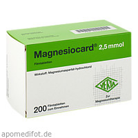 Magnesiocard 2.5 mmol, 200 ST, Verla-Pharm Arzneimittel GmbH & Co. KG