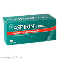 ASPIRIN N 100mg, 98 ST, Bayer Vital GmbH GB Pharma