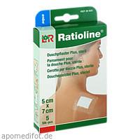 Ratioline aqua Duschpflaster plus 5x7cm steril, 5 ST, Lohmann & Rauscher GmbH & Co. KG