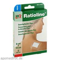 Ratioline aqua Duschpflaster plus 8x10cm steril, 5 ST, Lohmann & Rauscher GmbH & Co. KG