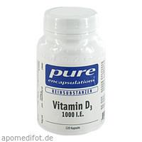 PURE ENCAPSULATIONS Vitamin D3 1000 I.E., 120 ST, Pro Medico GmbH
