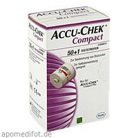 Accu-Chek Compact Teststreifen, 50 ST, Roche Diabetes Care Deutschland GmbH
