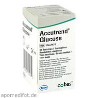 Accutrend Glucose, 25 ST, Roche Diagnostics Deutschland GmbH