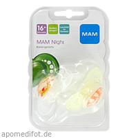MAM Night Silikon 16+, 2 ST, Mam Babyartikel GmbH