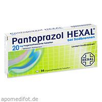 Pantoprazol HEXAL bei Sodbrennen, 14 ST, HEXAL AG