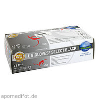 Einmal-Latexhandschuhe Select Black Gr.L, 100 ST, Serimed GmbH & Co. KG