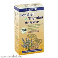 HOYER Fenchel + Thymian-Honigsirup, 250 G, HOYER GmbH