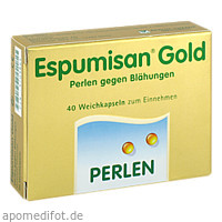 Espumisan Gold Perlen gegen Blähungen, 40 ST, Berlin-Chemie AG