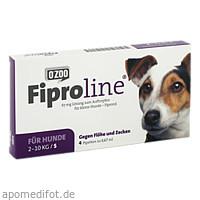 FIPROLINE 67 mg Lsg.z.Auftropf.f.kleine Hunde, 4 ST, O'ZOO GmbH