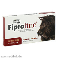 FIPROLINE 134 mg Lsg.z.Auftropf.f.mittelgr.Hun., 4 ST, O'ZOO GmbH