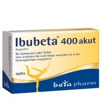 Ibubeta 400 akut Filmtabletten, 50 ST, betapharm Arzneimittel GmbH