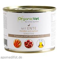 Dosennahrung Katze Sensitive Ente, 200 G, Organicvet GmbH