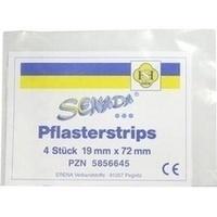 SENADA Pflasterstrips 19x72mm, 4 ST, Erena Verbandstoffe GmbH & Co. KG