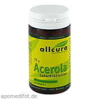 Acerola Lutschtabletten, 70 G, Allcura Naturheilmittel GmbH