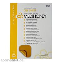 MEDIHONEY ANTIBAKTERIELLER GELVERBAND 10x10cm, 10 ST, Apofit Arzneimittelvertrieb GmbH