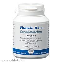 Vit.D3+Coral-Calcium, 120 ST, Pharma Peter GmbH