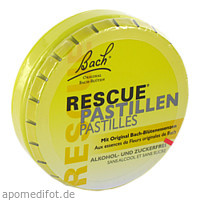 Bach Original Rescue Pastillen, 50 G, Junek Europ-Vertrieb GmbH Zweigniederlassung