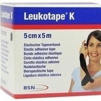 Leukotape K 5cm schwarz, 1 ST, Bsn Medical GmbH