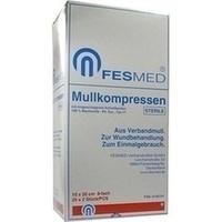 MULLKOMPRESSEN STERIL 10X20 ES 8F, 25X2 ST, Fesmed Verbandmittel GmbH