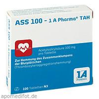 ASS 100 - 1 A Pharma TAH, 100 ST, 1 A Pharma GmbH
