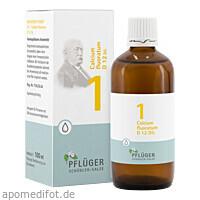 Biochemie Pflüger Nr. 1 Calcium fluoratum D12 Dil., 100 ML, Homöopathisches Laboratorium Alexander Pflüger GmbH & Co. KG