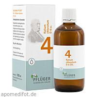 Biochemie Pflüger Nr. 4 Kalium chloratum D 6 Dil., 100 ML, Homöopathisches Laboratorium Alexander Pflüger GmbH & Co. KG