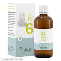 Biochemie Pflüger Nr. 6 Kalium sulfuricum D 6 Dil., 100 ML, Homöopathisches Laboratorium Alexander Pflüger GmbH & Co. KG