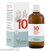 Biochemie Pflüger Nr. 10 Natrium sulfuricum D 6, 100 ML, Homöopathisches Laboratorium Alexander Pflüger GmbH & Co. KG